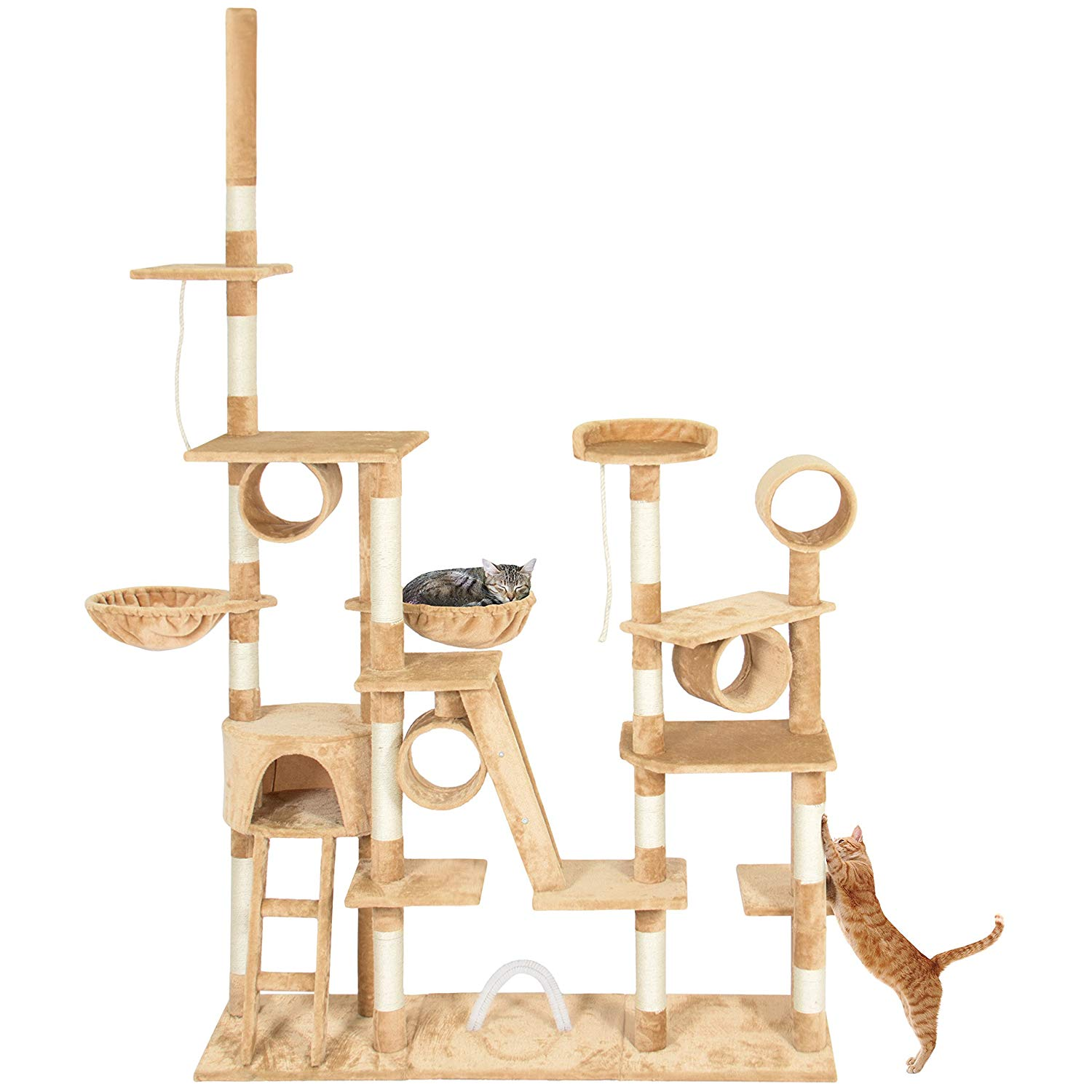 Best Choice Products 96in Cat Tree Scratcher Condo Palace Play Furniture